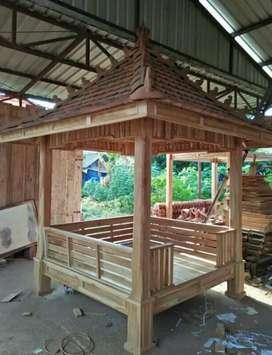 Gazebo kayu jati 2x2m