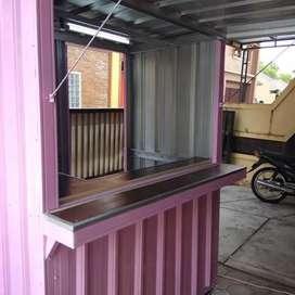 Booth, gerobak container/ semi container, gerobak jualan/ dagang