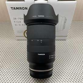 Lensa Tamron 28-75mm F2.8 DI III for Sony E Fullset Garansi April 2022