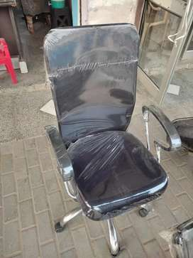 Black high back mesh back revolving chair. Strong And durable.