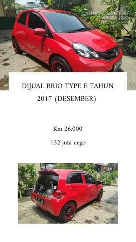 Dijual Brio E tahun 2017