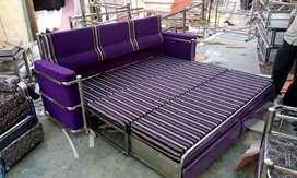 Steel sofa cum bed 6x6 model 387