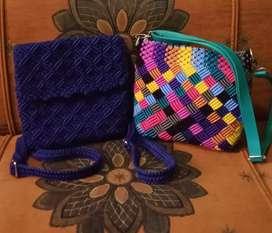 Tas selempang warna warni