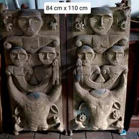 Pintu batak asli , dari kayu trembesi