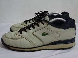 Sepatu lacoste leather vintage big logo size 46