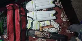 Cricket kit with kit bag