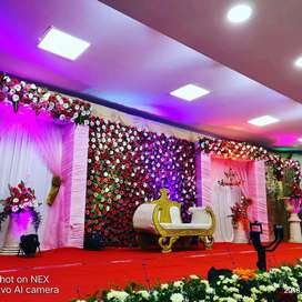 Stage decoration,dj,popcorn,sugar candy,aarthi plates