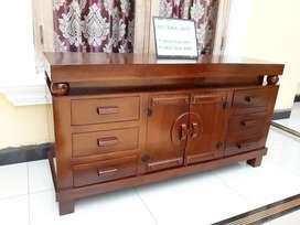 Bufet televisi cantik istana jati furniture 389