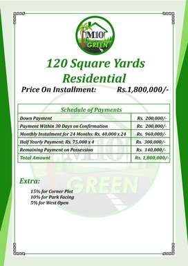 120 YARDS PLOTS NEAR MAYMAR