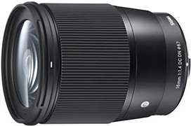Sigma 16mm f/1.4 DC DN  Lens for Sony E Mount Mirrorless (APS-C Forma)