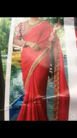 Stich saree new collection
