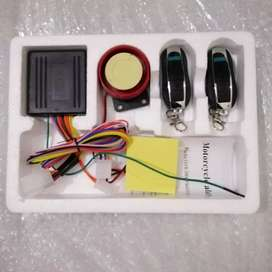 Security alarm system kit for motorcycle
