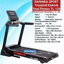 Treadmill Elektrik Total TL-126 Big Mampu Menahan Beban 130Kg