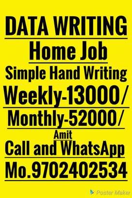 Home Job Weekly salary provide Easy Work