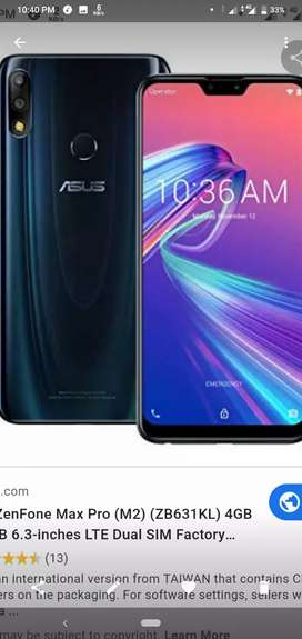 Asus zenphone max pro m2 in excellent condition