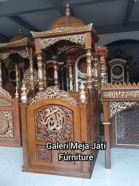 Mimbar masjid dominan ukir D842 talk
