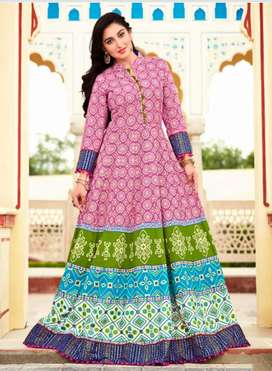 Pink Long  kurthi