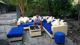 Sofa minimalis model U elegan