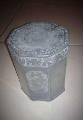 Bokor/wadah/kotena (boru=bhs jpg) segi 8 bahan perak