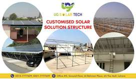 Customized Solar Panels Frame Structure for Roof Top in Low Budget.