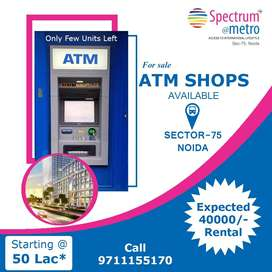 ATM Shops available wid expctd Rs.40000* monthly rental @ Noida Sec-75