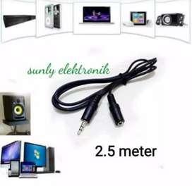 kabel sambungan aux audio jack 3.5mm headphones extension cable male
