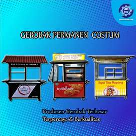 Gerobak Permanent // Booth Portable Free Design kekinian