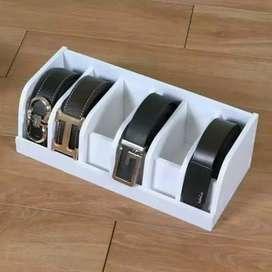 Rak kotak penyimpanan sabuk gesper ikat pinggang