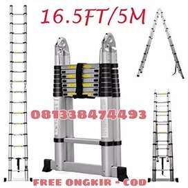 tangga telkom double 5m anti goyang