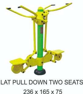 Alat Fitness Outdoor Lat Pull Down Two Seat Murah Garansi 1 Tahun