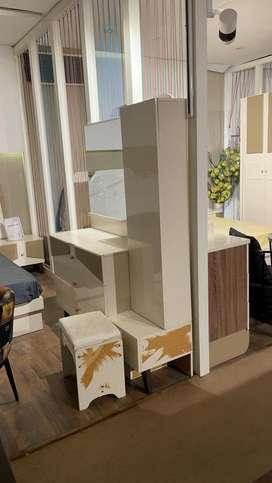 Brand new bedroom set with 6door wardrobe double bed and dresser