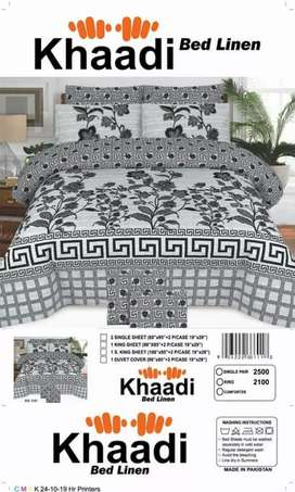 New Khaadi and Salonica Bedsheets for sale in a very reasonable price