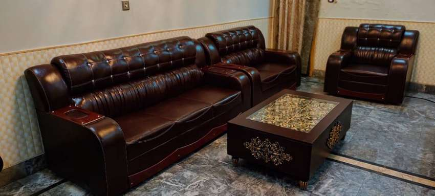 6 seater sofa set Leather bed dining and all house furniture selling