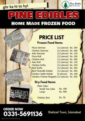 Home Made frozen foods