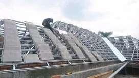 Contruksi atap baja ringan terpasang