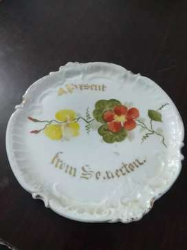 Gold plated Germany made decoratio plate