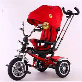 Sepeda R3 stroller anak Pasific type 5199 lampu, music