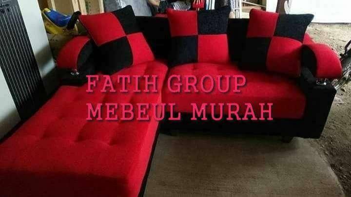 sofa red valvet orlando siap antr bahan premi cod di lokasi