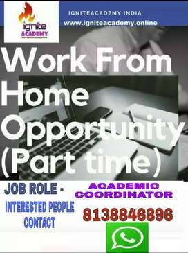 Wanted ACADEMIC CORDINATOR..PARTIME JOB!! WORK LESS!! EARN MORE