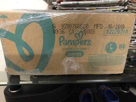 Pampers L size premium care pant style diapers for sale at good price.