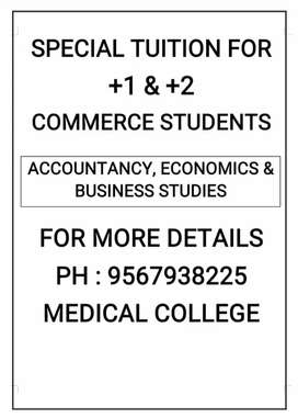 TUTION FOR PLUS ONE AND PLUS TWO COMMERCE STUDENTS (ALL SYLLABUS)