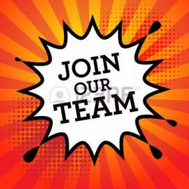Need energetic staff for office work males and females
