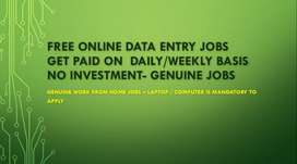 Get surely paid Daily / Weekly - Genuine & Easy Online Data Entry job