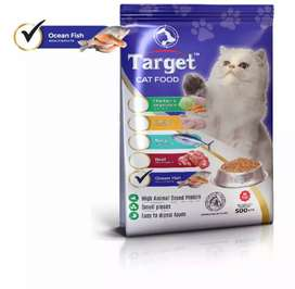 TARGET CAT PET FOOD | 500 GRAMS PACK | FRESH STOCK | ALL FLAVOURS |