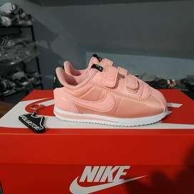 ORIGINAL sepatu Nike Cortez Pink White Kids Kid Anak Velcro BNWB