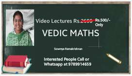 Vedic maths videos,7 chapters,500only