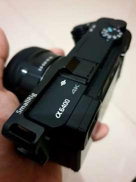 Sony a6400 lensa kit 16-50mm OSS bonus 3 baterai dan smallrig hotshoe