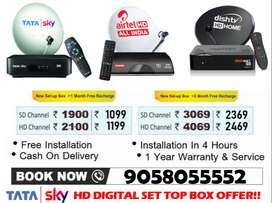 Special Offer On Tata sky, Airtel, Dishtv, D2h All India Free Tatasky!