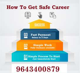 Would you like home based job. If yes then for you this opportunity. D