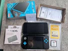 New Nintendo 2DS LL XL Blue 16GB Fullset Bukan 3DS Plus R4